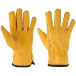 Kids Premium Top Grain Cowhide Leather Work Gloves in 4 sizes for ages 3-14