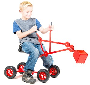 Sand Digger Backhoe Toy With Wheels