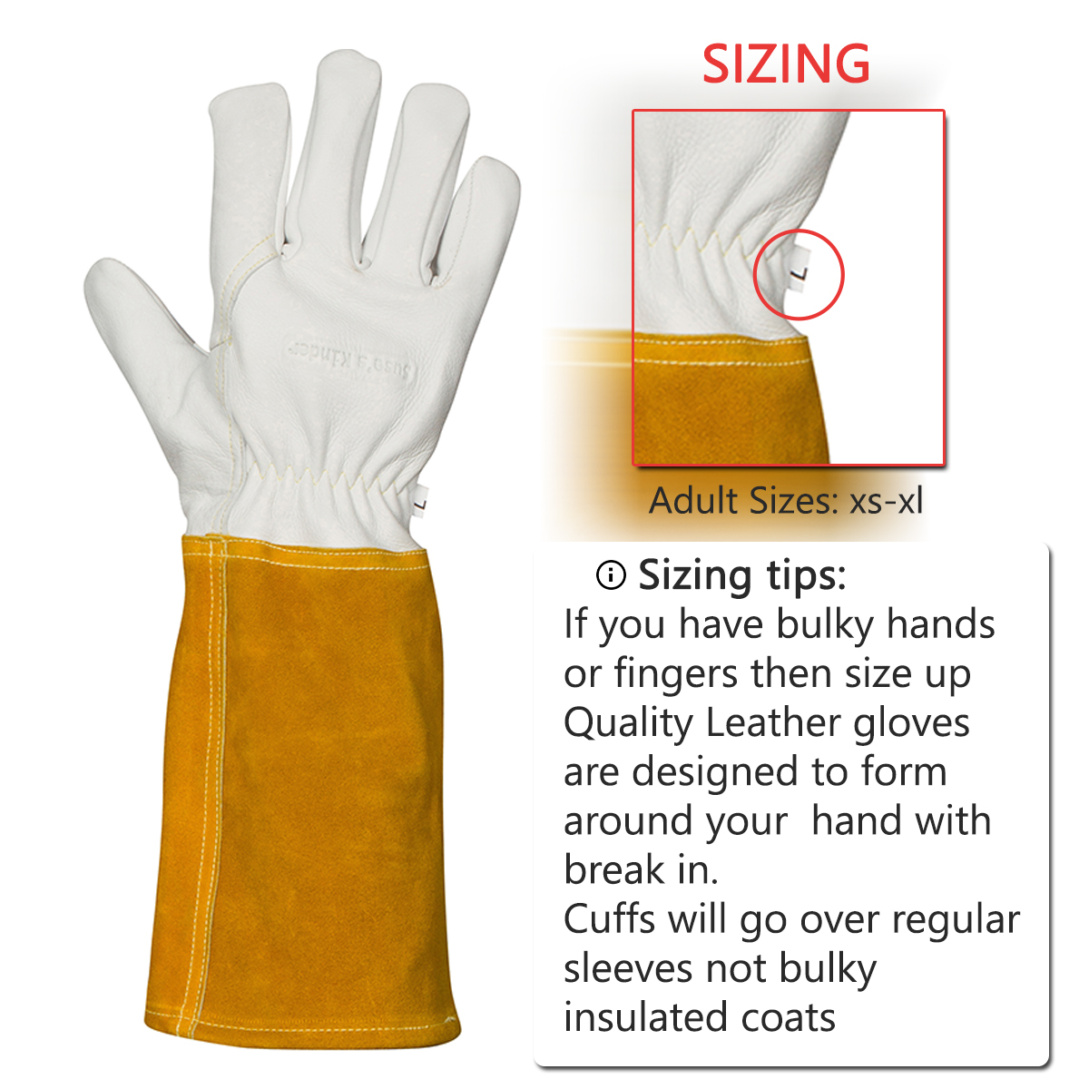 Long Sleeves Welding Gloves Heat Resistant Wood Burners Gloves for BBQ//Welding//Mining Cotton Lined Welding Safety Accessories Gloves