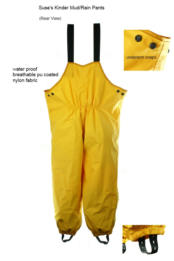 8 Years Yellow CareTec Kids Rain Pants Dungarees