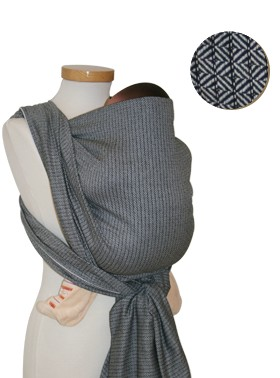 Storchenwiege Leo Black and White Baby Wrap