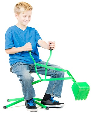 Kid Digger a Toy ride-on Backhoe for Sandbox , Beach, Snow, or Playground