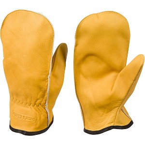 Chopper Mittens, Unlined Top Grain Cowhide Leather Adult Mens Mitts